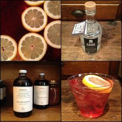 """The signature cocktail needs to made from <a href=""""http://www.artintheage.com/our-spirits/"""">Art in the Age</a> spirits, obviously..."""