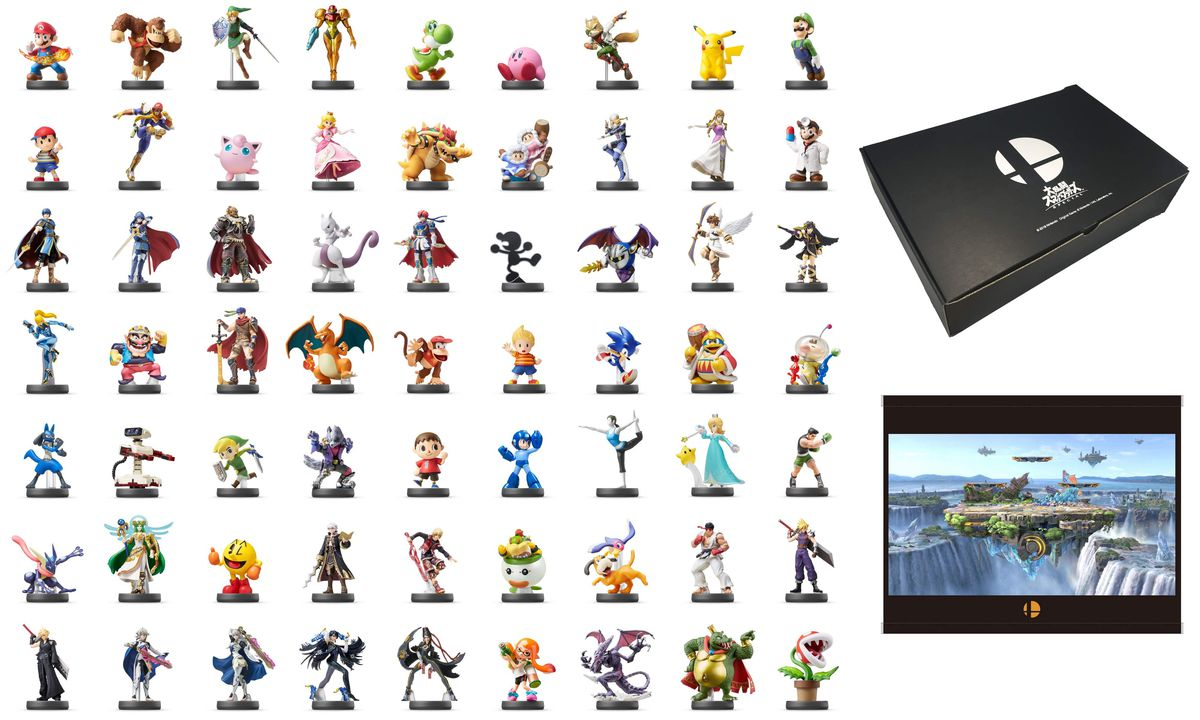 Limited-edition Super Smash Bros  amiibo box comes with 63 amiibo