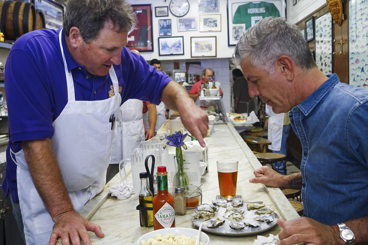 Anthony Bourdain at Swan Oyster Depot