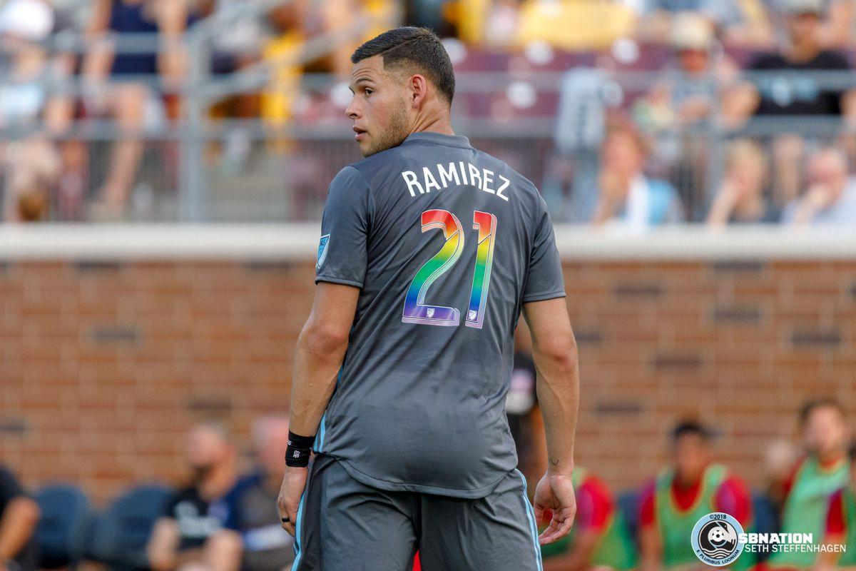 June 29, 2018 - Minneapolis, Minnesota, United States - Minnesota United forward Christian Ramirez (21) during the match against FC Dallas at TCF Bank Stadium.