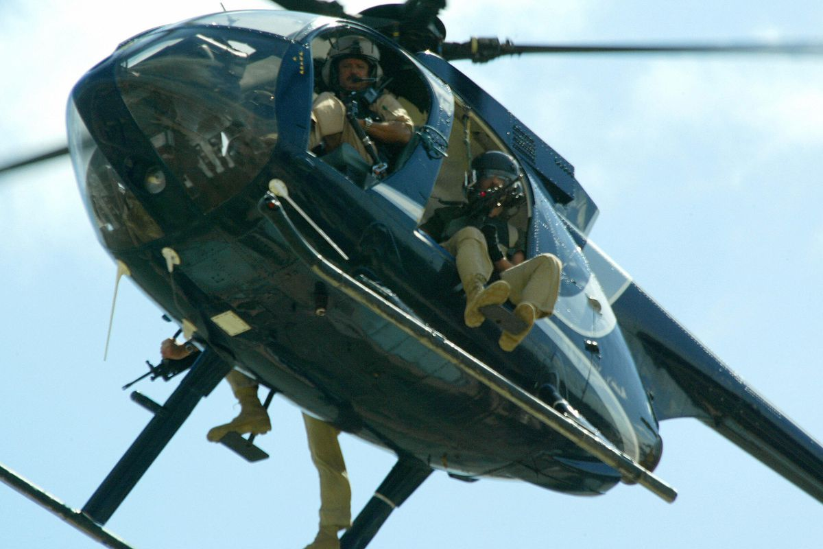 A Blackwater helicopter in 2004.