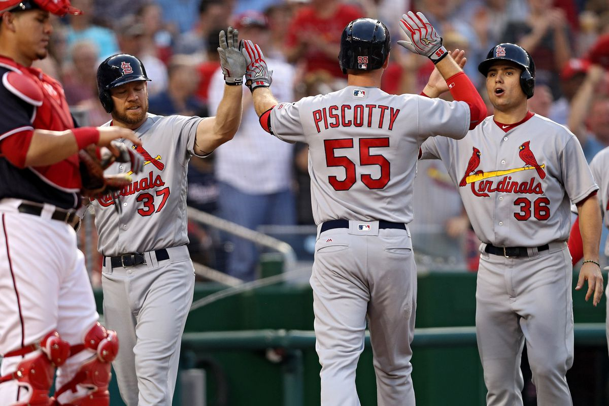 Stephen Piscotty, your new favorite guy, after hitting a grand slam