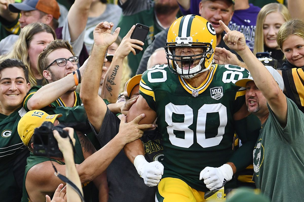 """01786a474 Packers  tight ends flashed with """"back-to-basics"""" 12 and 11 offensive  packages"""