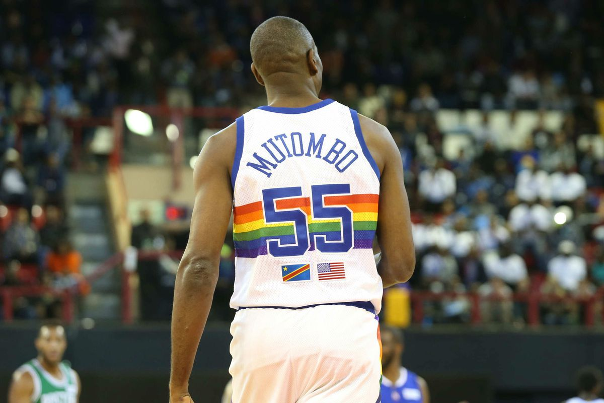 buy online 2d27b 807fb Nuggets to retire Dikembe Mutombo's jersey; wear throwback ...