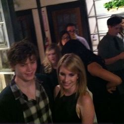 Emma Roberts posing at the entrance. Photo via Racked LA.