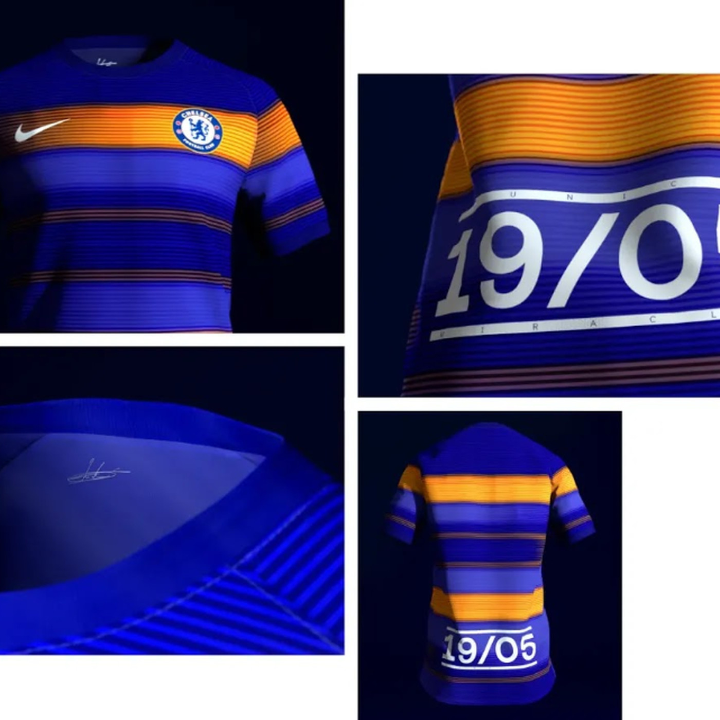 best authentic 482c7 a4cdd Final version of fan-designed Nike Chelsea Shirtholder's kit ...