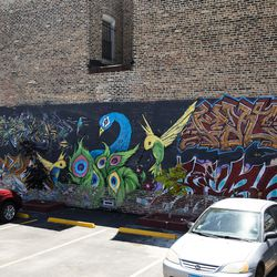 A mural at 8949 S. Commercial Ave.