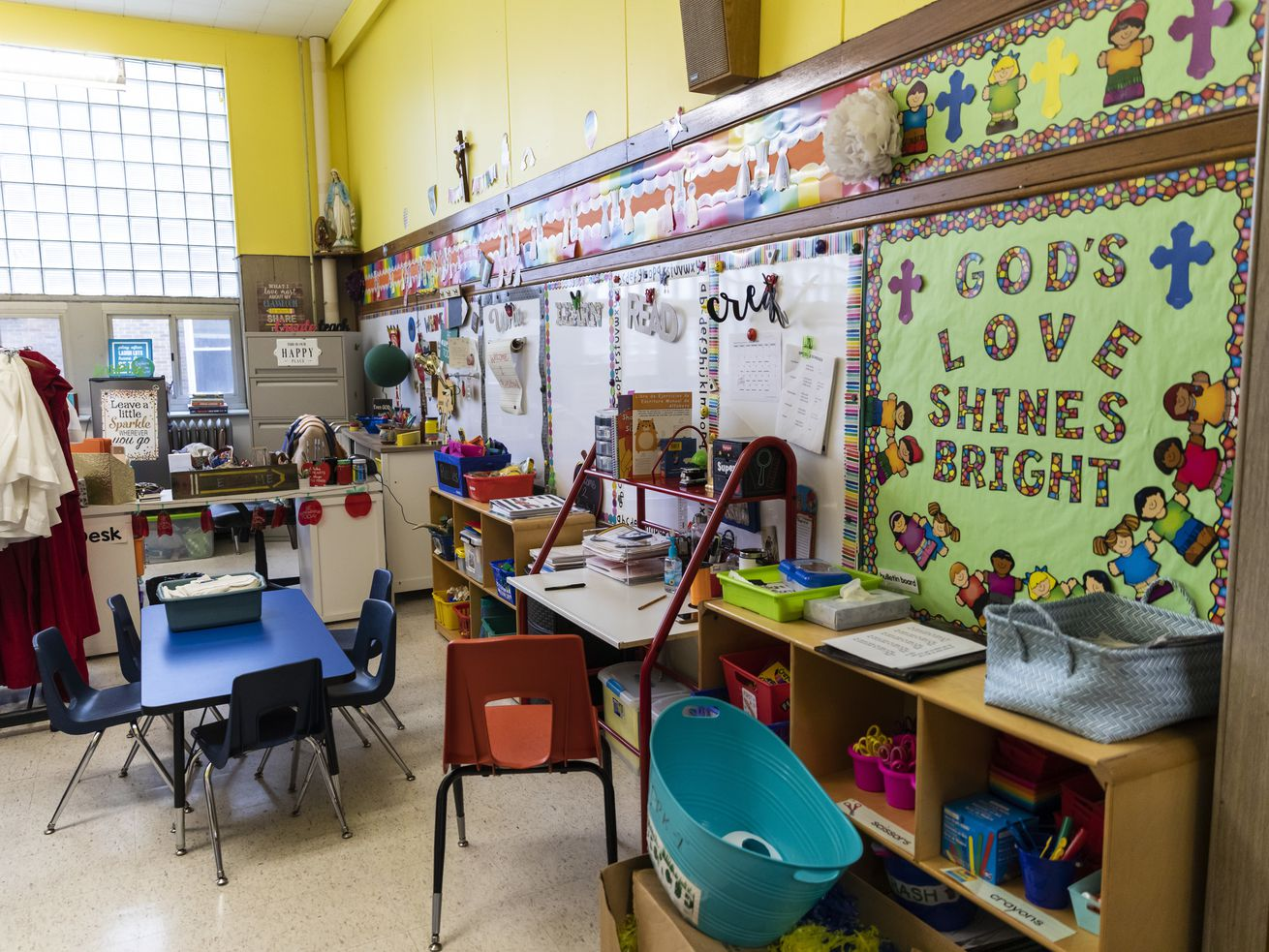 A pre-kindergarten classroom at St. Genevieve Catholic School, 4854 W. Montana St., Thursday, Jan. 30, 2020.