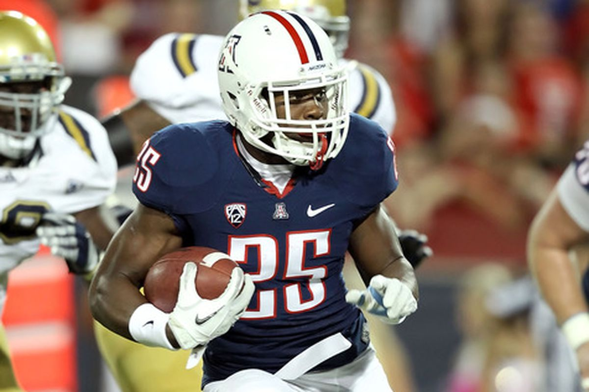 Ka'Deem Carey looks to have another monster season in 2013 after setting an Arizona record for rushing yards in 2012.