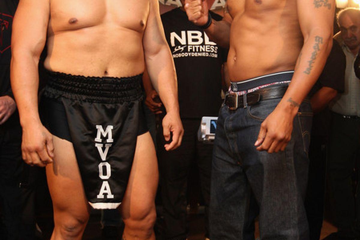 Monte Barrett defeated David Tua today in New Zealand. (Photo by Sandra Mu/Getty Images)