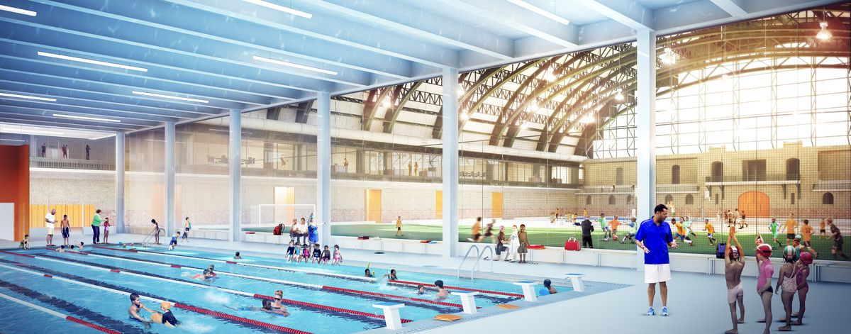 rendering of a swimming pool