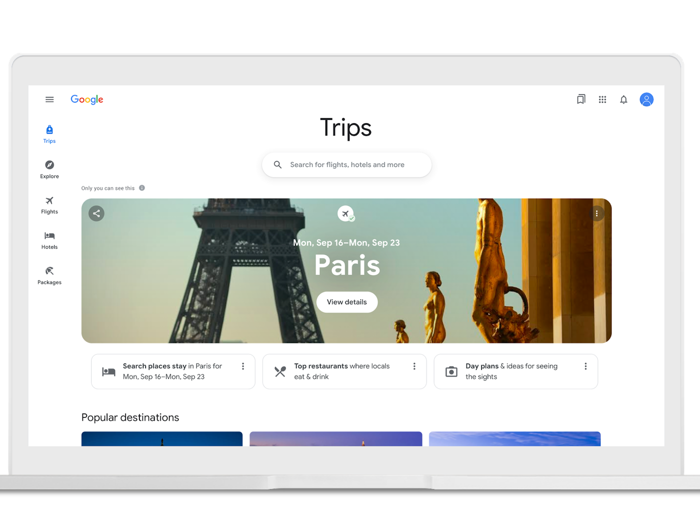 Google wants Travel and Maps to be the place you plan trips from