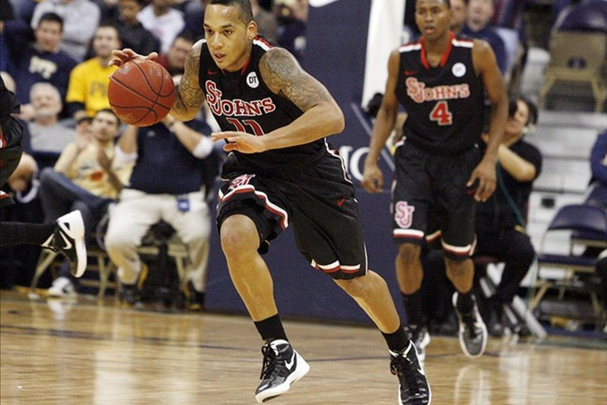 Sophomore <strong>D'Angelo Harrison</strong> will lead the young Johnnies into cramped War Memorial Gym on the campus of the University of San Francisco in December.