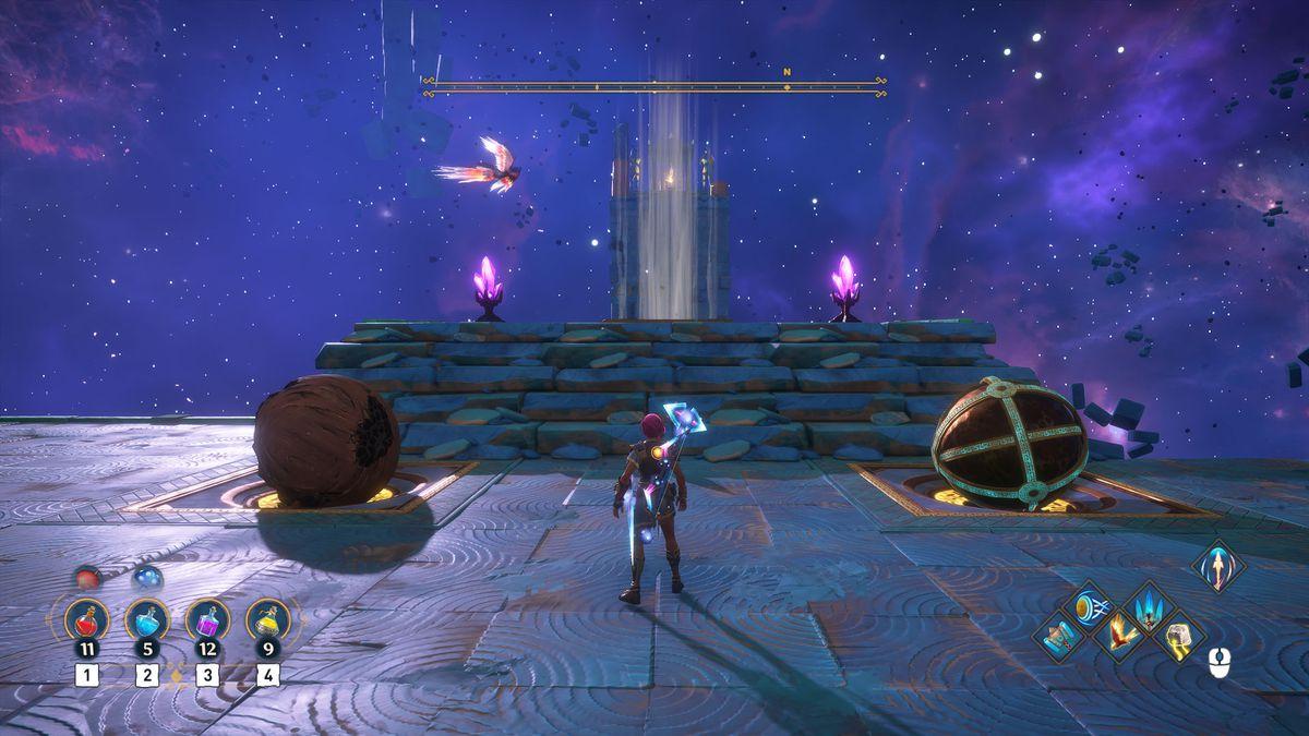 A puzzle solution for the Atlas's Burden Vault of Tartaros in Immortals Fenyx Rising