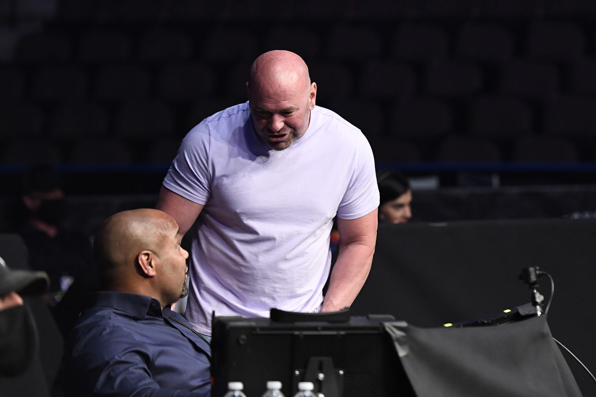 UFC president Dana White looks on during UFC Fight Night at VyStar Veterans Memorial Arena on May 13, 2020 in Jacksonville, Florida.