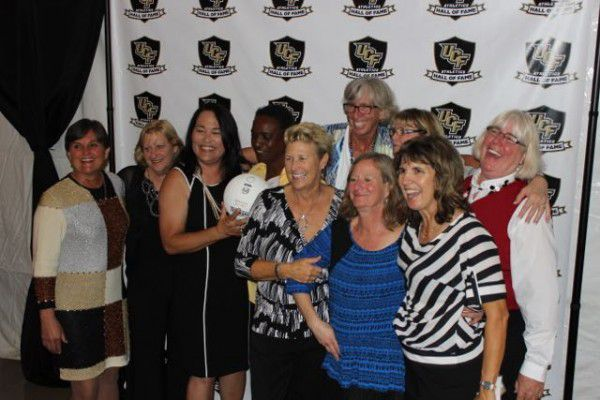 Members of the 1978 UCF Volleyball Team at their UCF Athletics Hall of Fame Induction in 2015 (Photo: Jeff Sharon)