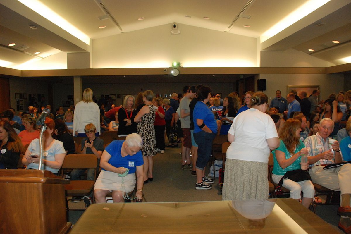 Jefferson County teachers and residents packed the June 5 Board of Education meeting when the board discussed the district's budget. Jeffco Public Schools Chief Financial Officer Lorie Gillis announced she's leaving the district today. Her office is responsible for the district's budget.