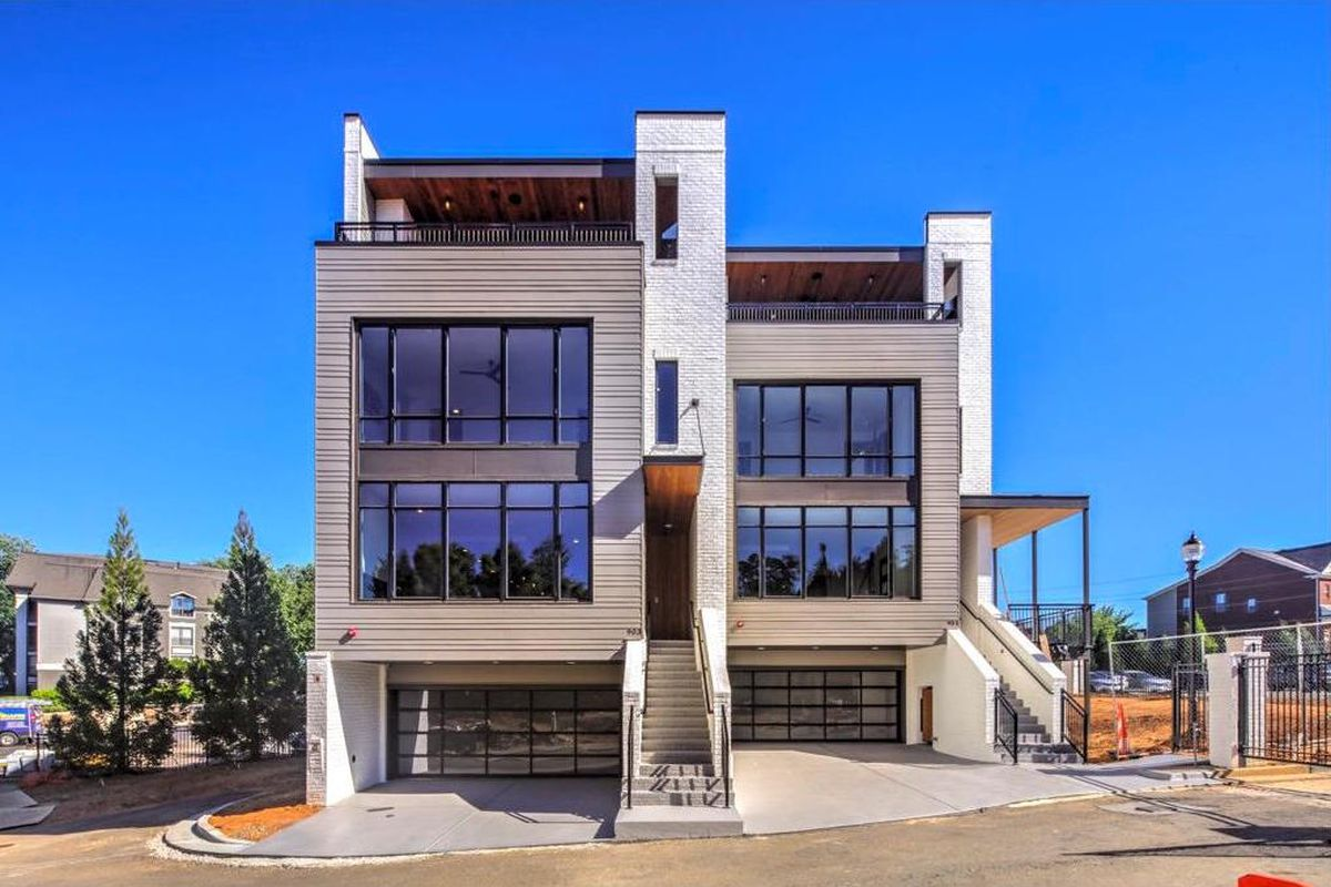 A pair of swanky new townhouses near Lindbergh in Buckhead.