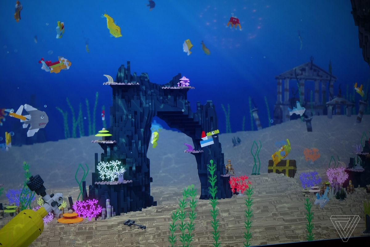The Country House Company i built a fish out of lego, and now it lives in a virtual