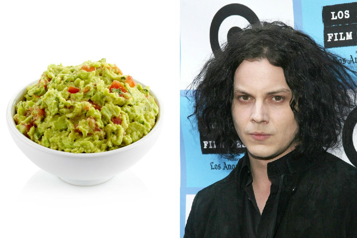 This guacamole is not chunky enough for Jack White.