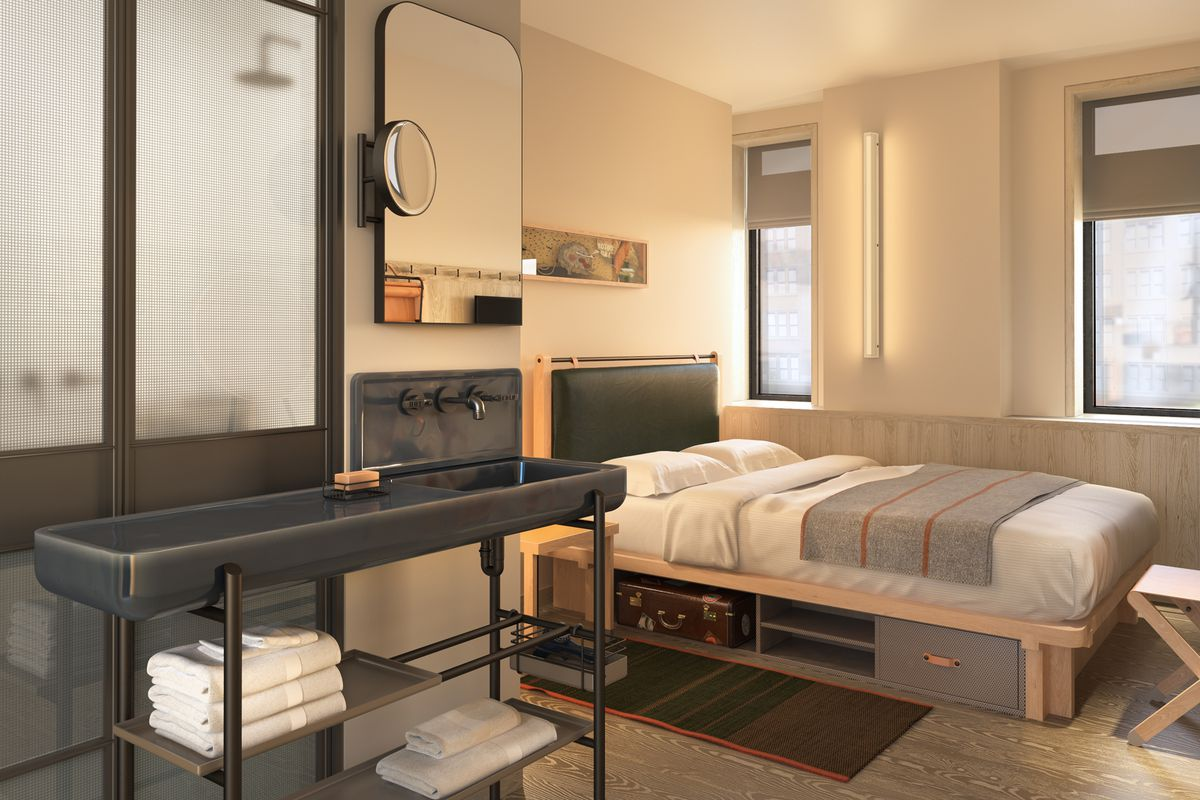 Moxy Times Square unveils its Yabu Pushelberg-designed rooms - Curbed NY