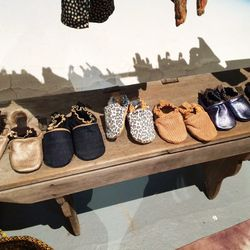 """Beautiful baby moccasins by <a href=""""http://www.neonrae.com/""""target=""""_blank"""">Neon Rae</a>."""