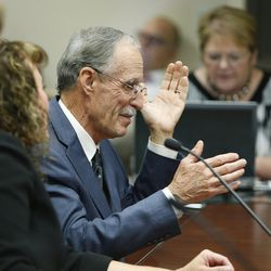 Salt Lake County Recorder Gary Ott answers questions while meeting with the Salt Lake County Council in Salt Lake City on Tuesday, Oct. 4, 2016. The council reviewed an audit of the county recorder's office.