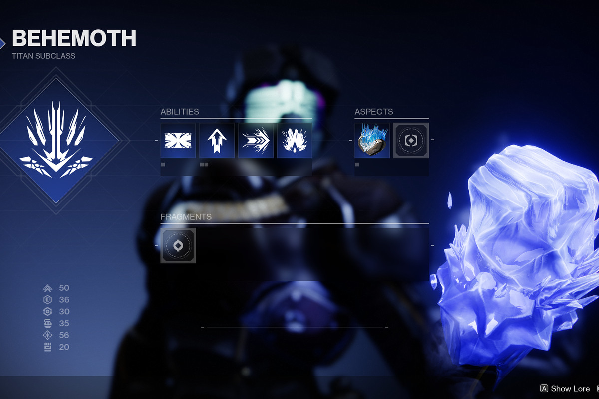 Destiny 2 Beyond Light Behemoth Stasis class