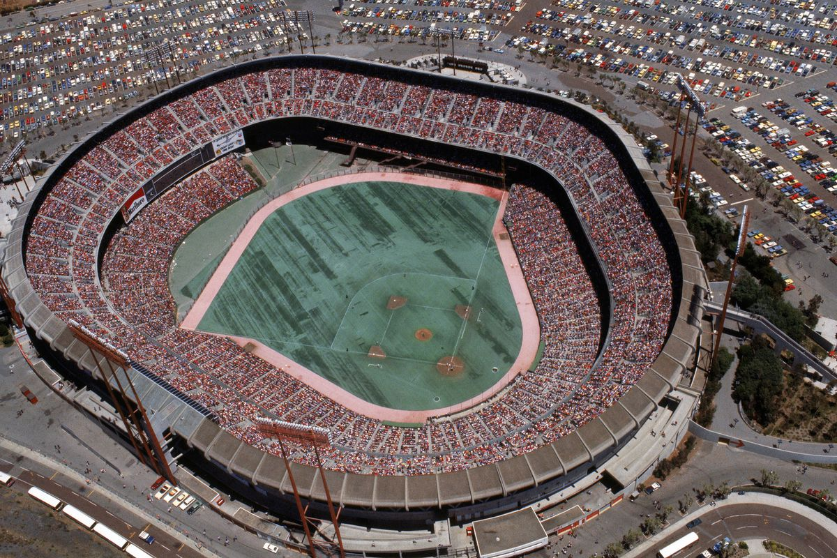 Candlestick Park as it appeared in its Astroturfed glory in 1978