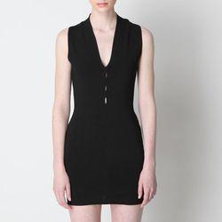 "<b>Alexander Wang</b> V-Neck Dress, <a href=""http://www.aloharag.com/eng/alexander-wang-100008s12-v-neck-dress-black.html"">$148</a> (was $494) at Aloha Rag"