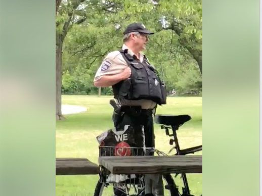 Ex-Cook County Forest Preserve Police officer Patrick Connor believes he acted appropriately and feels he wasn't treated fairly after a video went viral showing him doing nothing as a man berated a woman over wearing a shirt with the Puerto Rican flag on