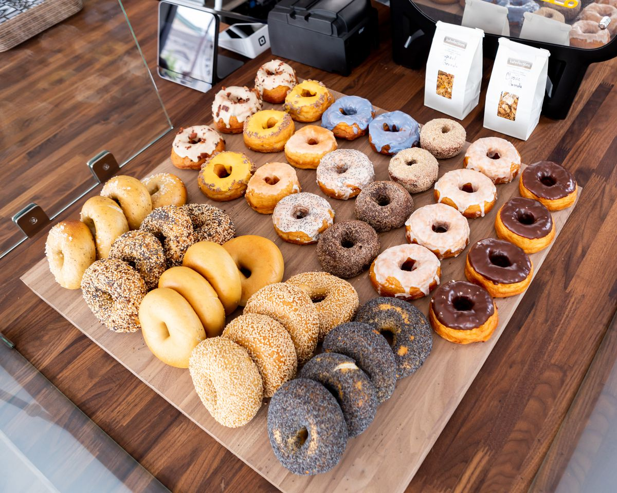 Poppy Bagels and Dynamo Donuts at Noe Cafe