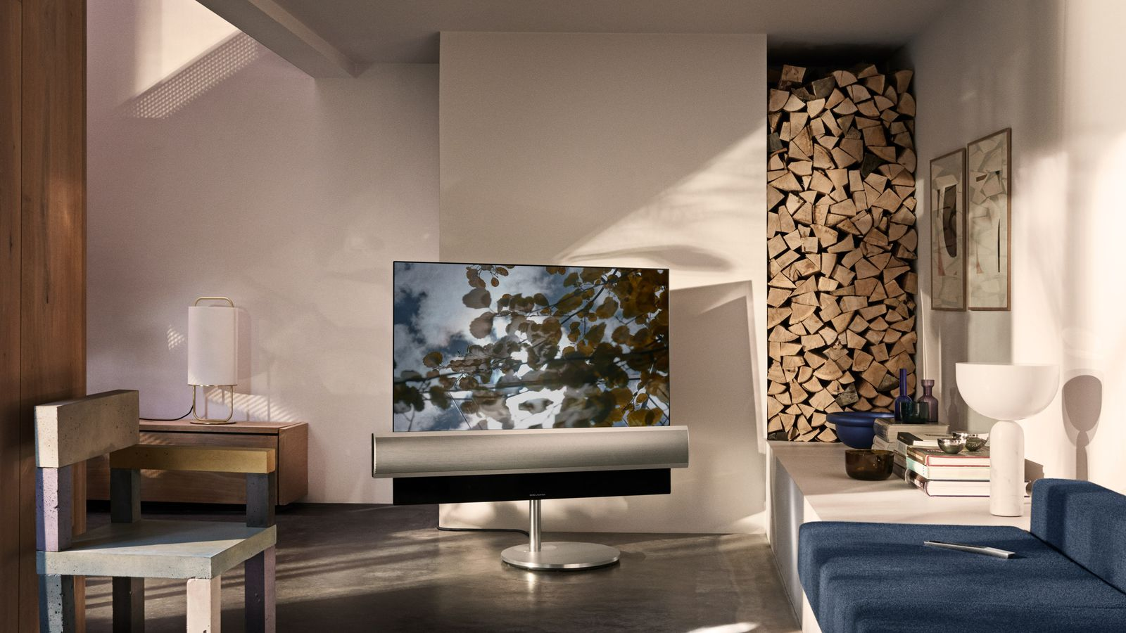 bang olufsen teams up with lg on this stunning oled television the verge. Black Bedroom Furniture Sets. Home Design Ideas