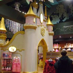 The princess palace on the second floor