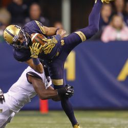 Will Fuller makes an acrobatic catch