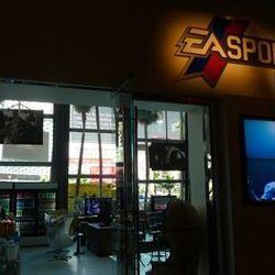 The sign still says EA Sports Bar.
