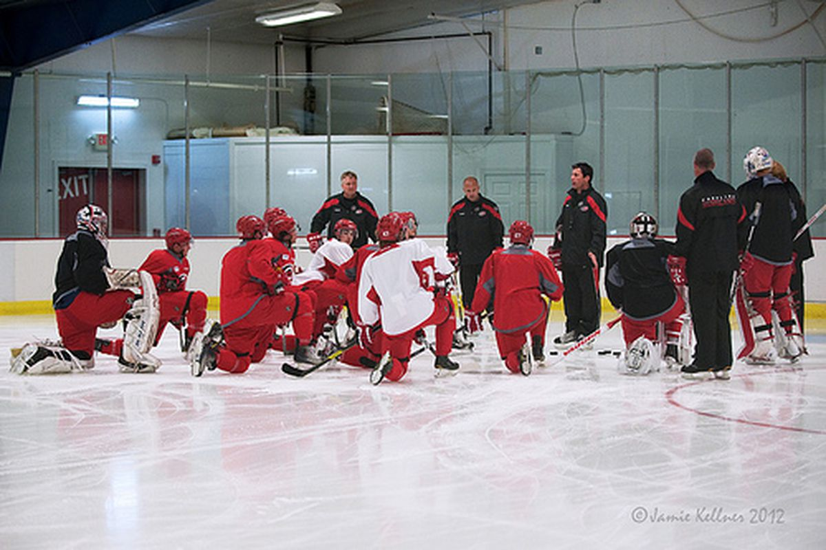 Carolina Hurricanes Conditioning Camp at Raleigh Center Ice, June 27, 2012 (author's photo).