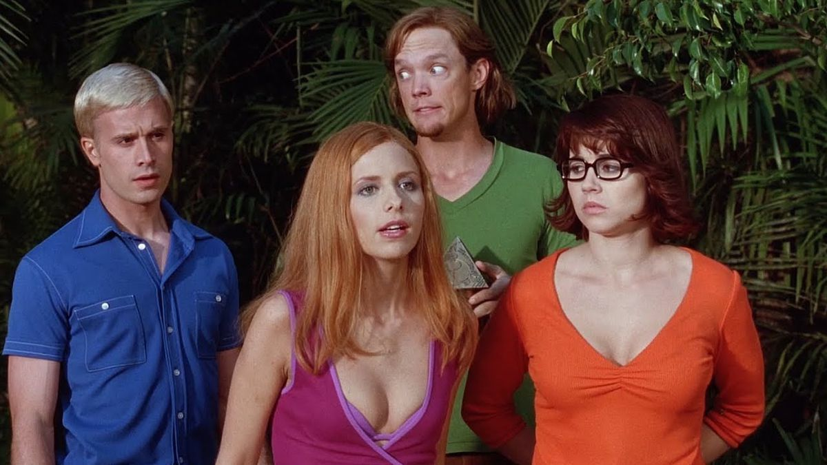 the scooby gang in a vacation ensemble