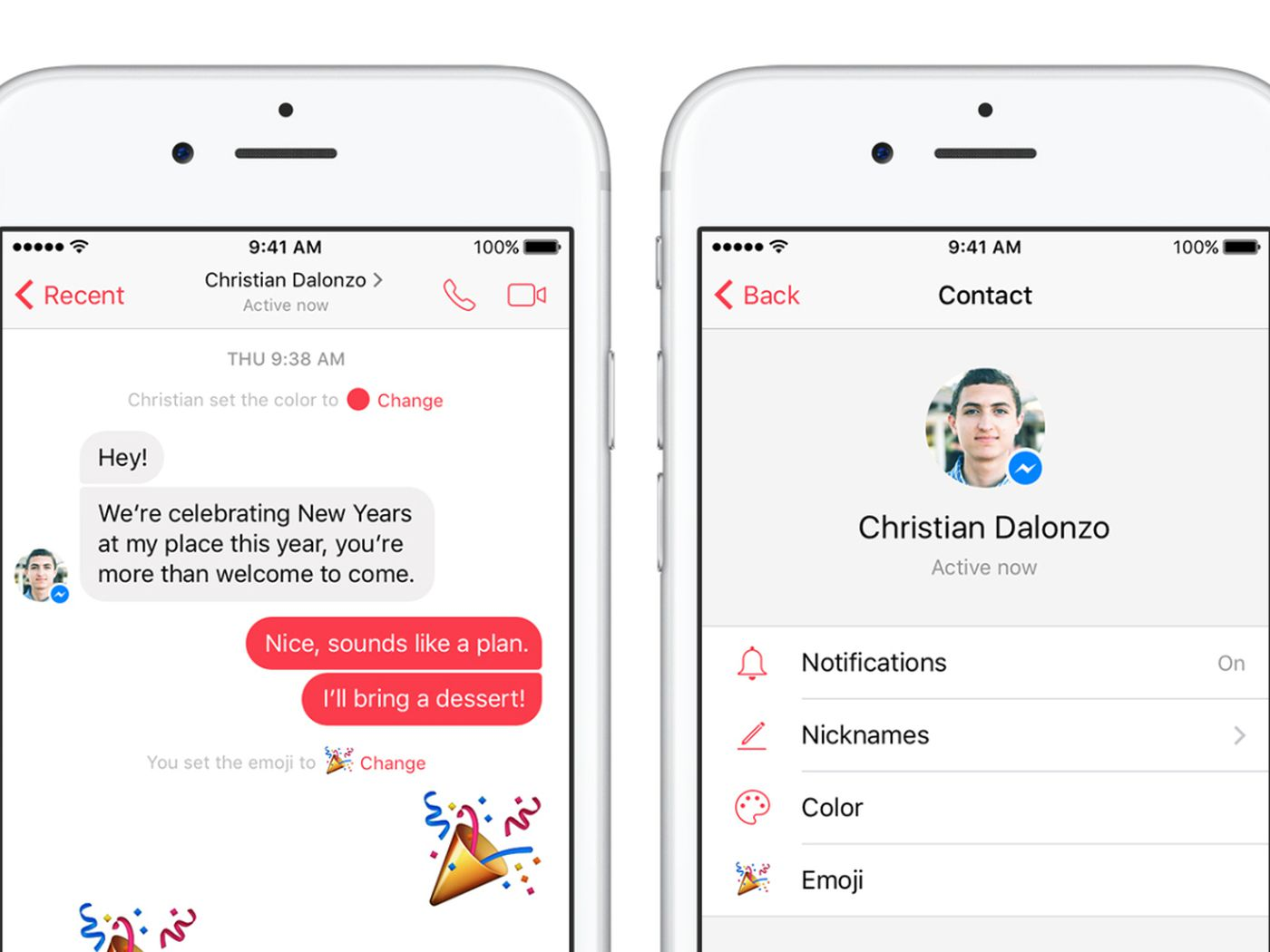 Facebook Messenger now lets you customize colors and emoji for every