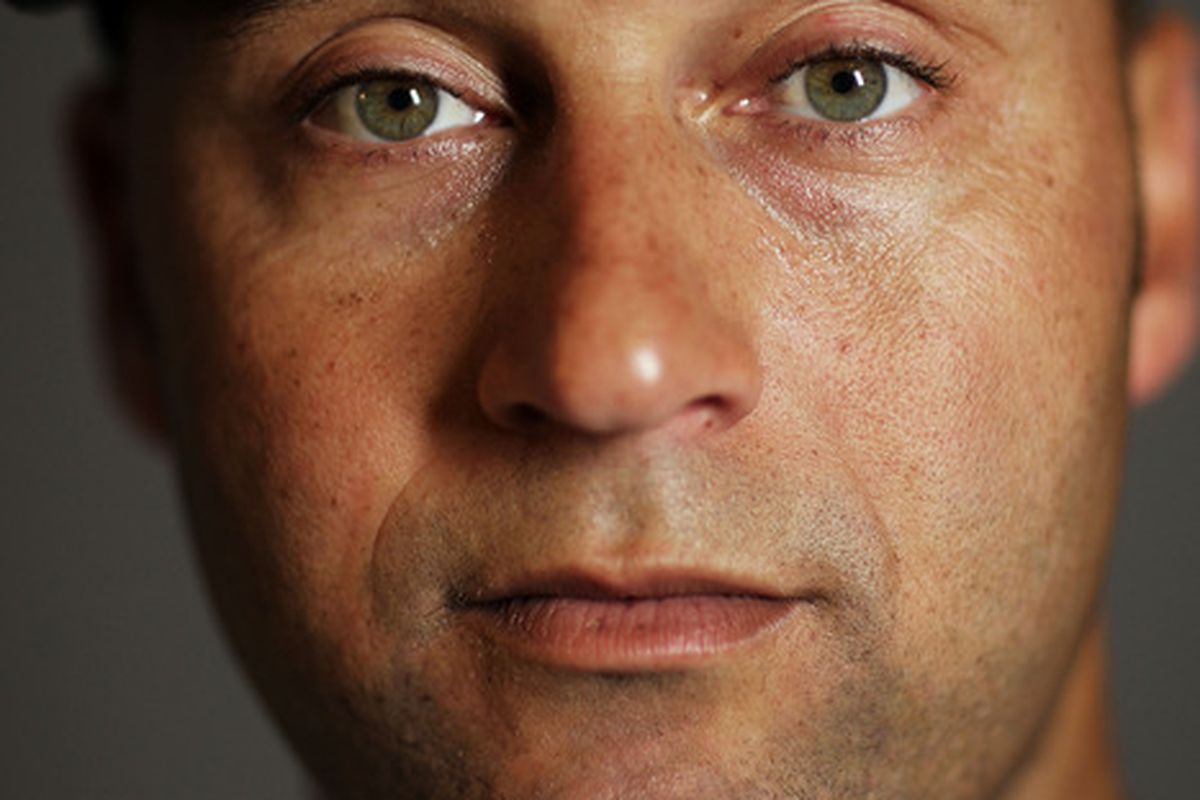 TAMPA, FL - FEBRUARY 27:  Derek Jeter #2 of the New York Yankees poses for a portrait during the New York Yankees Photo Day on February 27, 2012 in Tampa, Florida.  (Photo by Nick Laham/Getty Images)
