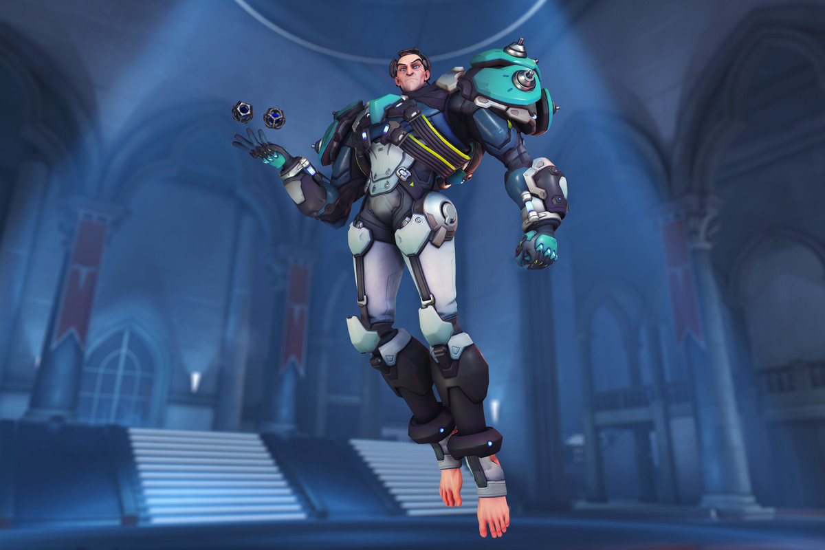 Overwatch - Sigma's in-game model.
