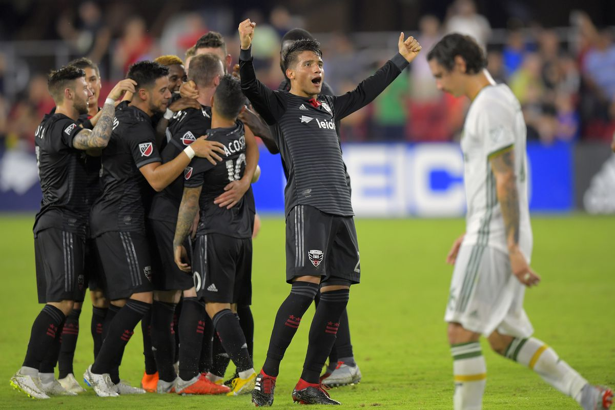 DC United and the Portland Timbers