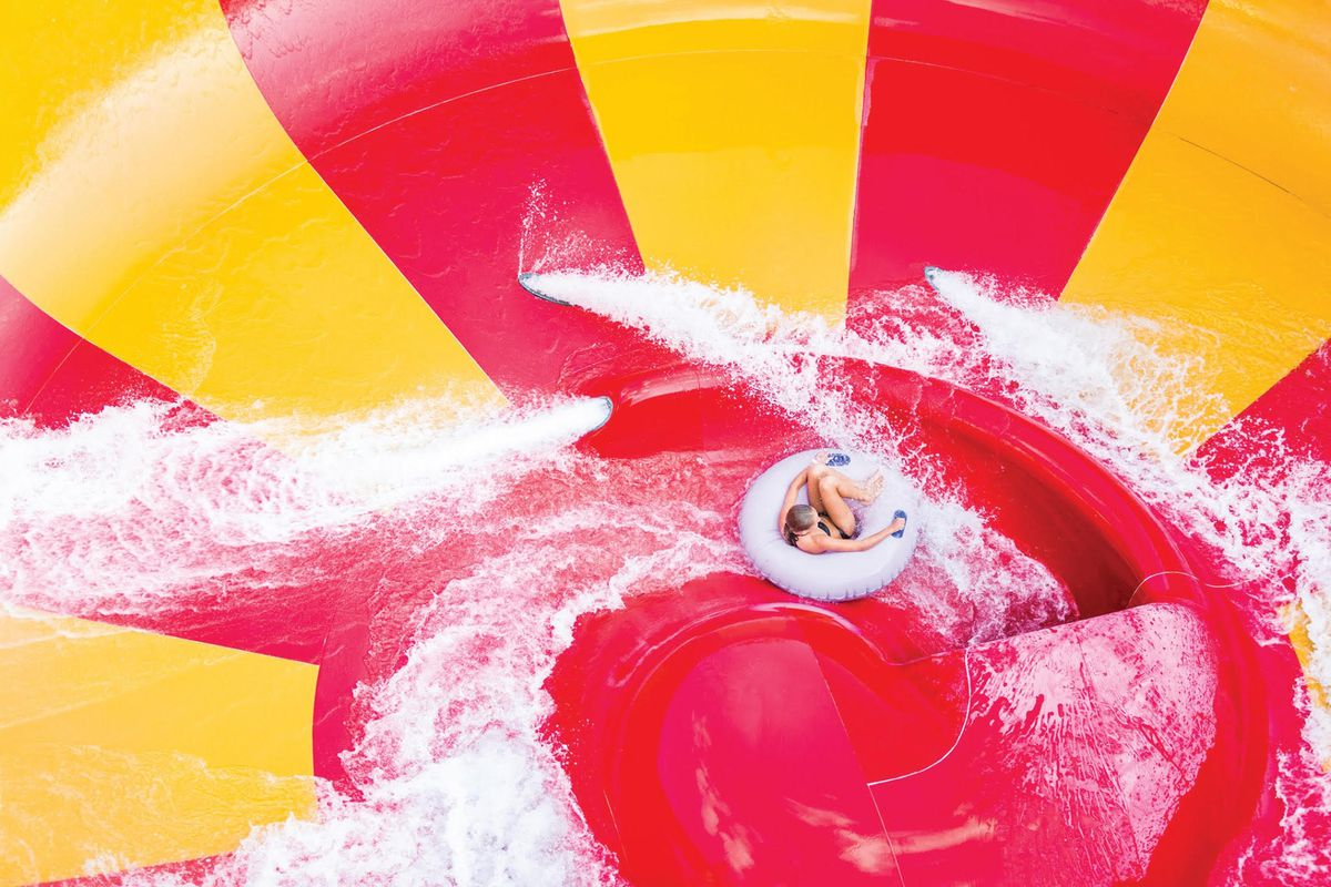 Dueling CannonBowl ride on the Double Crown in the Deep River Waterpark Point, Ind., In which opens on May 30.