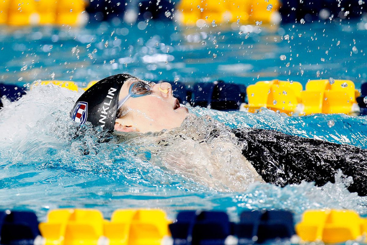 Missy Franklin competes in the Women's 200m Backstroke during the Duel in the Pool at the Georgia Tech Aquatic Center in Atlanta, Georgia.  (Photo by Kevin C. Cox/Getty Images)
