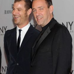 """Matt Stone, left, and Trey Parker attend the 65th annual Tony Awards at the Beacon Theatre on June 12, 2011, in New York City. The pair have spun the success of their """"Book of Mormon"""" musical into a new studio for film and television production."""