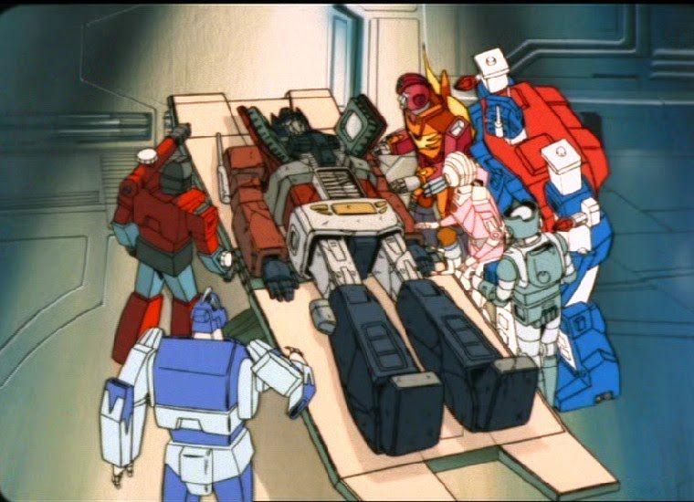 Optimus dies in Transformers: The Movie