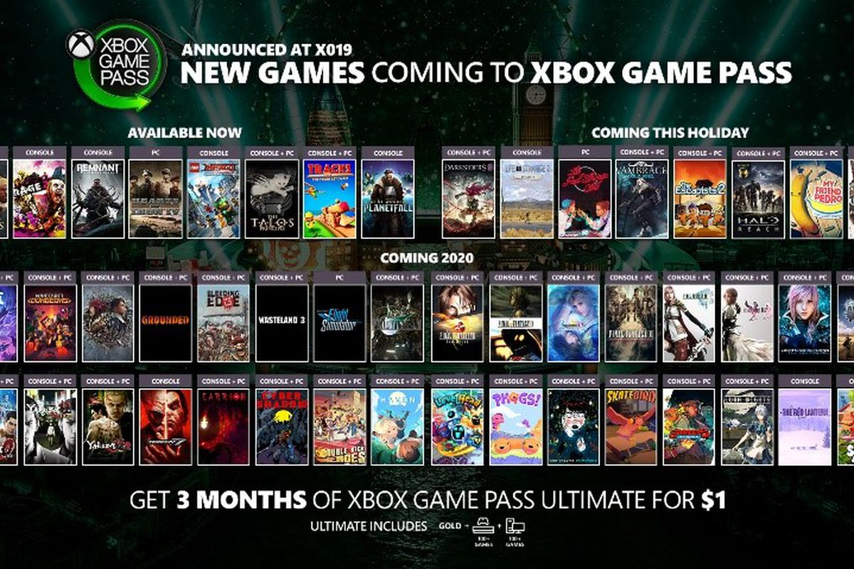 Image result for x019 xbox game pass