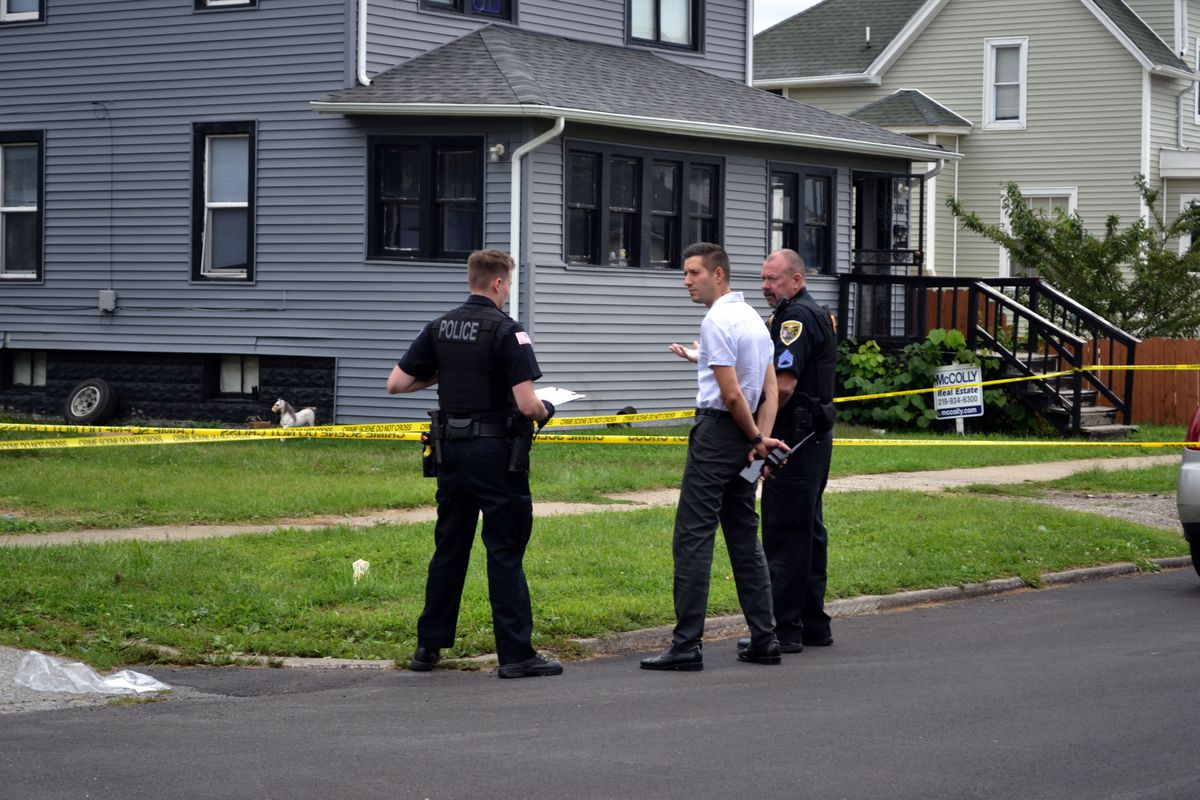 Hammond police investigate the scene of a shooting Sept. 1 in the 4800 block of Elm Avenue.