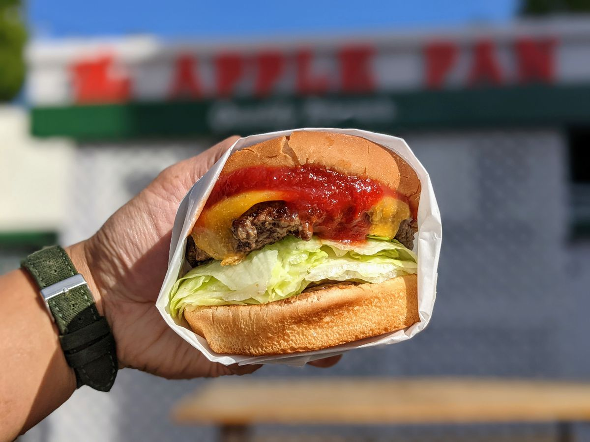 Hickory burger from the Apple Pan in West LA.