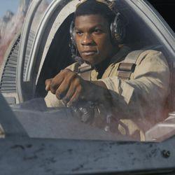 "Finn (John Boyega) in ""Star Wars: The Last Jedi."""